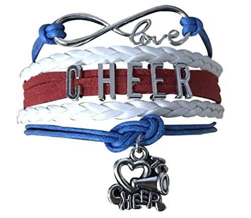 Infinity Collection Cheer Bracelet- Girls Cheerleading Bracelet- Cheer Jewelry - Perfect Gift For Cheerleader, Cheer Mom or Cheer (Cheap Cheer Shirts)