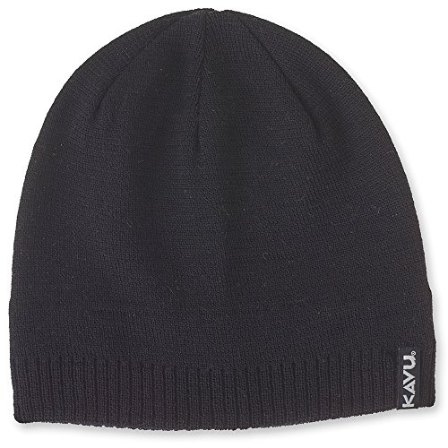 KAVU Logan Beanie, Black, One Size