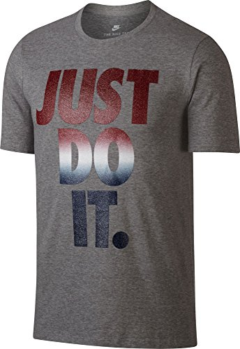 Nike Mens Sportswear Just Do It USA Graphic T-Shirt, (Dk Grey Heather, M) (Nike Graphic Tshirts For Men)