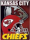 Kansas City Chiefs 60x80 Aggression Design Royal Plush Raschel Throw Blanket