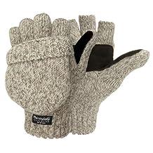 Weatherbeaters Ragg Wool Pop Top Fingerless Glove