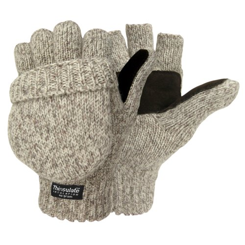 HOT SHOT Igloos Men's The Sentry Mittens, Oatmeal, One Size