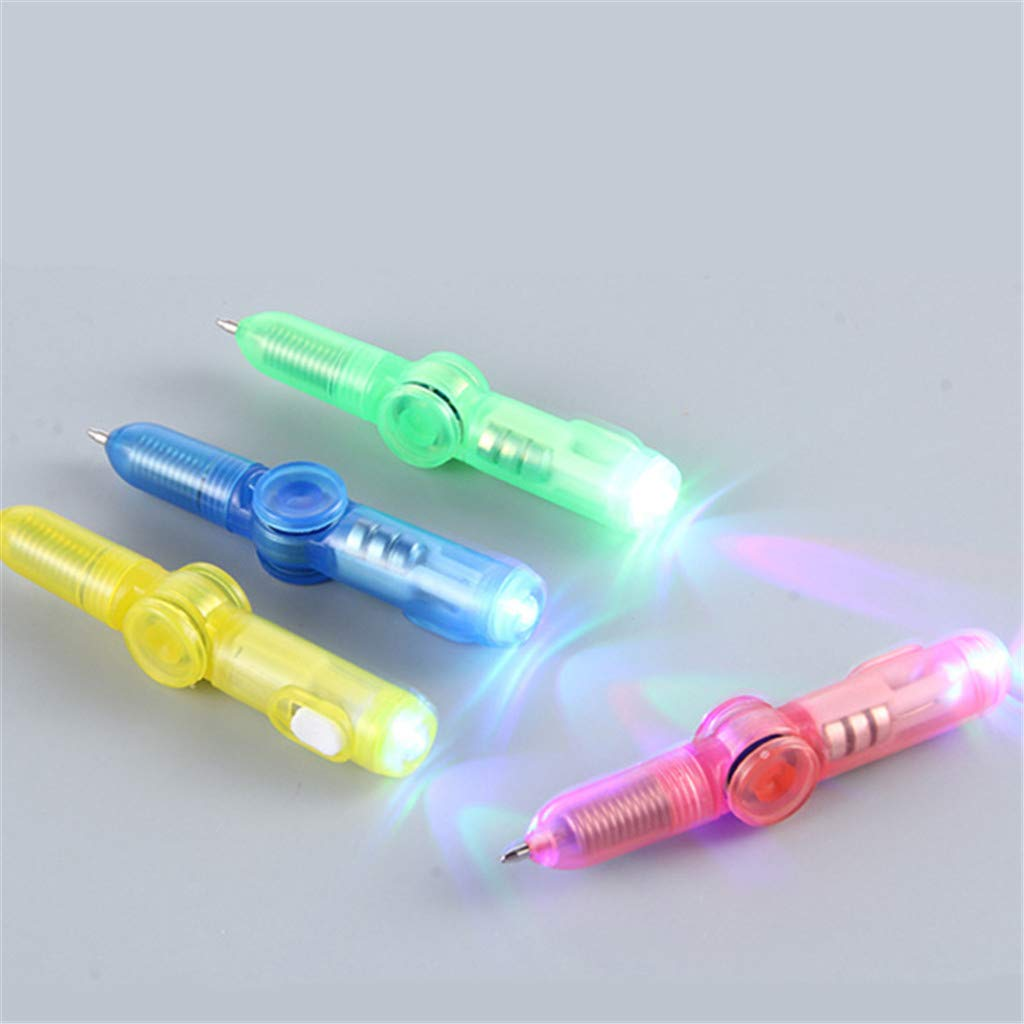 FURU LED Spinning Pen Kugelschreiber Zappeln Spinner Hand Top Glow In Dark Light EDC Stress Relief Spielzeug