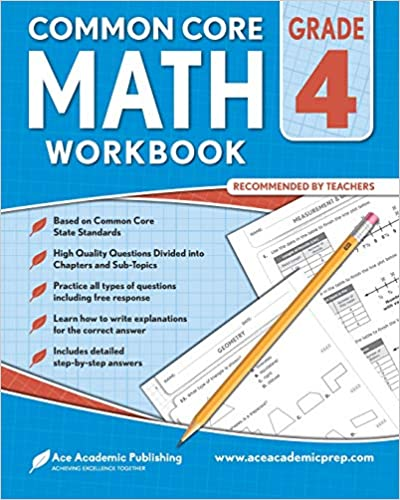 4th grade Math Workbook: CommonCore Math Workbook: Ace Academic ...