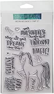 """Concord & 9th Unicorn Awesomeness Clear Stamps, 4""""X6"""""""