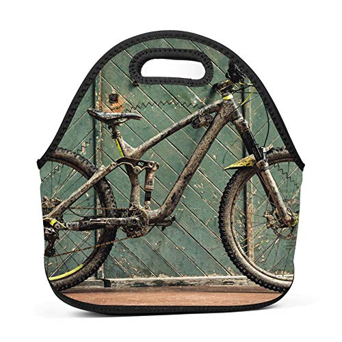 Neoprene Lunch Bag Insulated Lunch Tote Bags Boxes for Adults Men Women Nurses by Lwbd bike-QW4187393