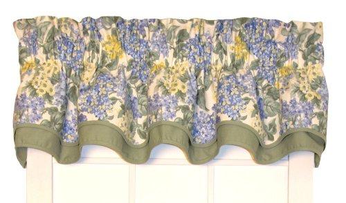 Hydrangea Floral Bradford Valance Curtain 70-Inch-by-15-Inch