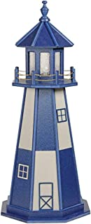 product image for DutchCrafters Decorative Lighthouse - Wood, Cape Henry Style (Patriot Blue/Weatherwood, 4)