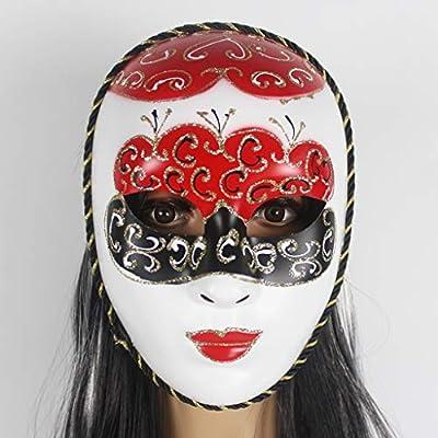 BS Máscara Máscara de Halloween Máscara Pintada de Rostro Humano ...