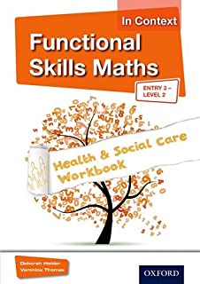 Preparing to work in adult social care level 2 amazon functional skills maths in context health social care workbook entry 3 level 2 fandeluxe Image collections