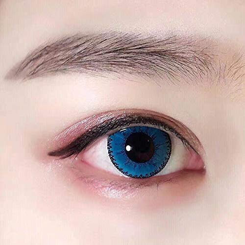 Women's multi-color cute charm and attractive color eye enhancer multi-color shadow, the most natural eye color change (Blue) (Colored Contact)