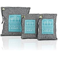 Bamboo Activated Charcoal Odor Absorber, Eliminator, Air Purifier & Freshener - Deodorizer Bags are 100% Natural Eco-Friendly Non-Toxic - Filter and Neutralizer for Car, Home, Shoes, Refrigerators