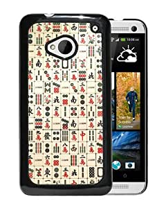 Beautiful Designed Cover Case For HTC ONE M7 With Mahjong Black Phone Case