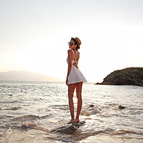 La Playa Noche De Vestido La Honda De Casual Del Meizizivestido Vestido Vestido De white MeiZiZi x8T0gqHA