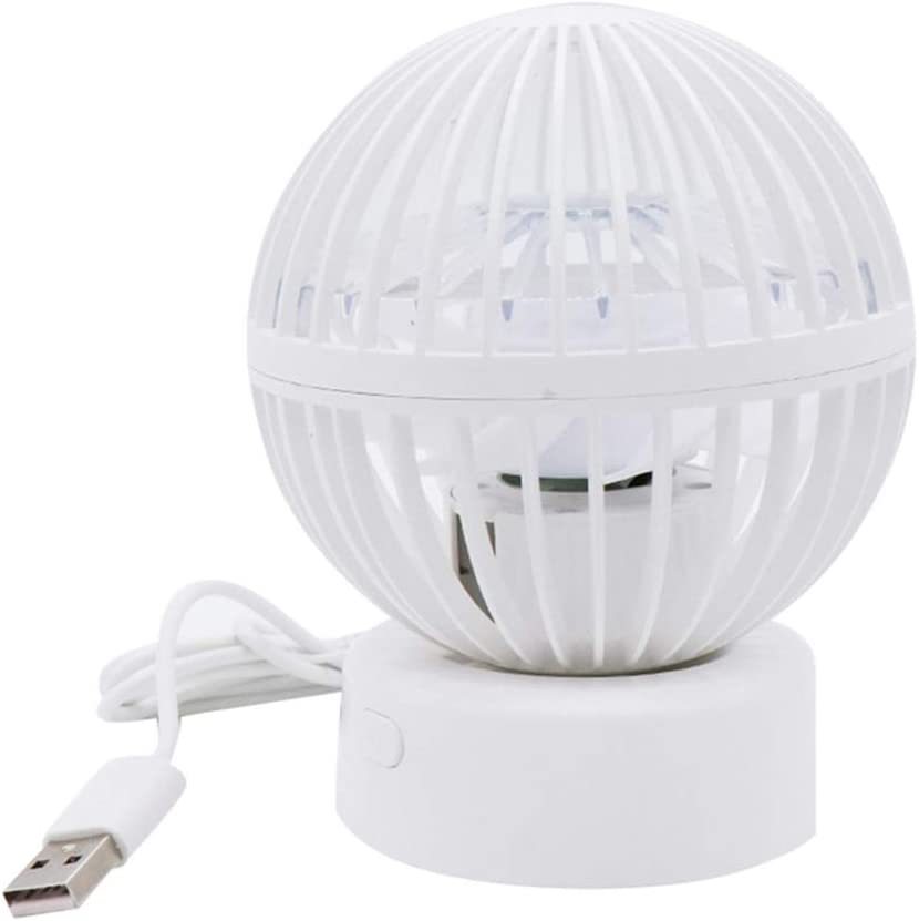 BeimYcW 90 Degree Rotary Desktop Mini Super Quiet USB Cooling Fan Cooler for PC Laptop White