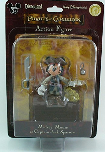 Disney Pirates of the Caribbean Mickey Mouse as Captain Jack Sparrow Disney Parks ()