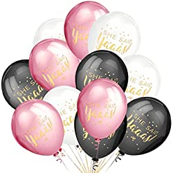 LeeSky Bachelorette Party Decorations,50Pcs She Said Yaaas Balloons -Bachelorette,Bridal Shower,Engagement,Wedding Party Decorations