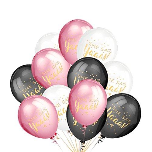 LeeSky Bachelorette Party Decorations,50Pcs She Said Yaaas Balloons -Bachelorette,Bridal Shower,Engagement,Wedding Party Decorations (Balloon Bridesmaid)