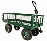 """Erie Tools 1000 lbs Flatbed Utility Garden Cart 48""""x 24"""" with Removable Sides"""