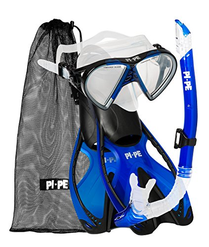PI-PE Erwachsene Active Schwimmbrille, Blue, One Size