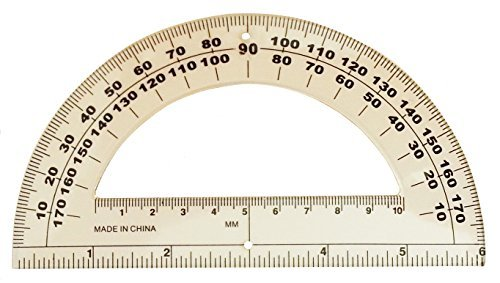 6'' Clear Plastic Student Protractor