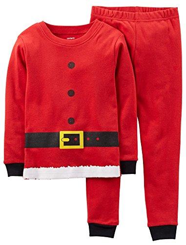 Carter's Boys Santa Christmas 2-Piece Snug Fit Cotton Paj...