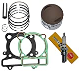 YAMAHA WARRIOR 350 PISTON RINGS GASKET NGK SPARK PLUG KIT SET YFM 350 1987 1988 1989 1990 1991 1992 1993 1994 1995 1996 1997 1998 1999 2000 2001 2002 2003 2004