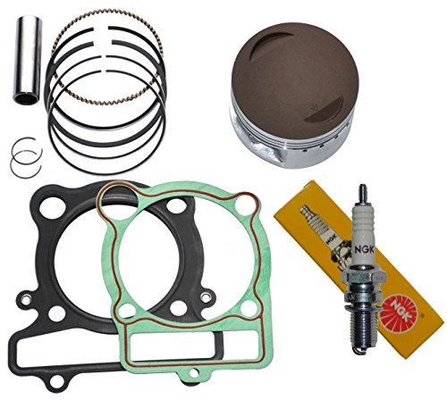 YAMAHA BIG BEAR 350 PISTON RINGS GASKET NGK SPARK PLUG KIT SET YFM 350 1987 1988 1989 1990 1991 1992 1993 1994 1995 1996 1997 - Big Piston Bear