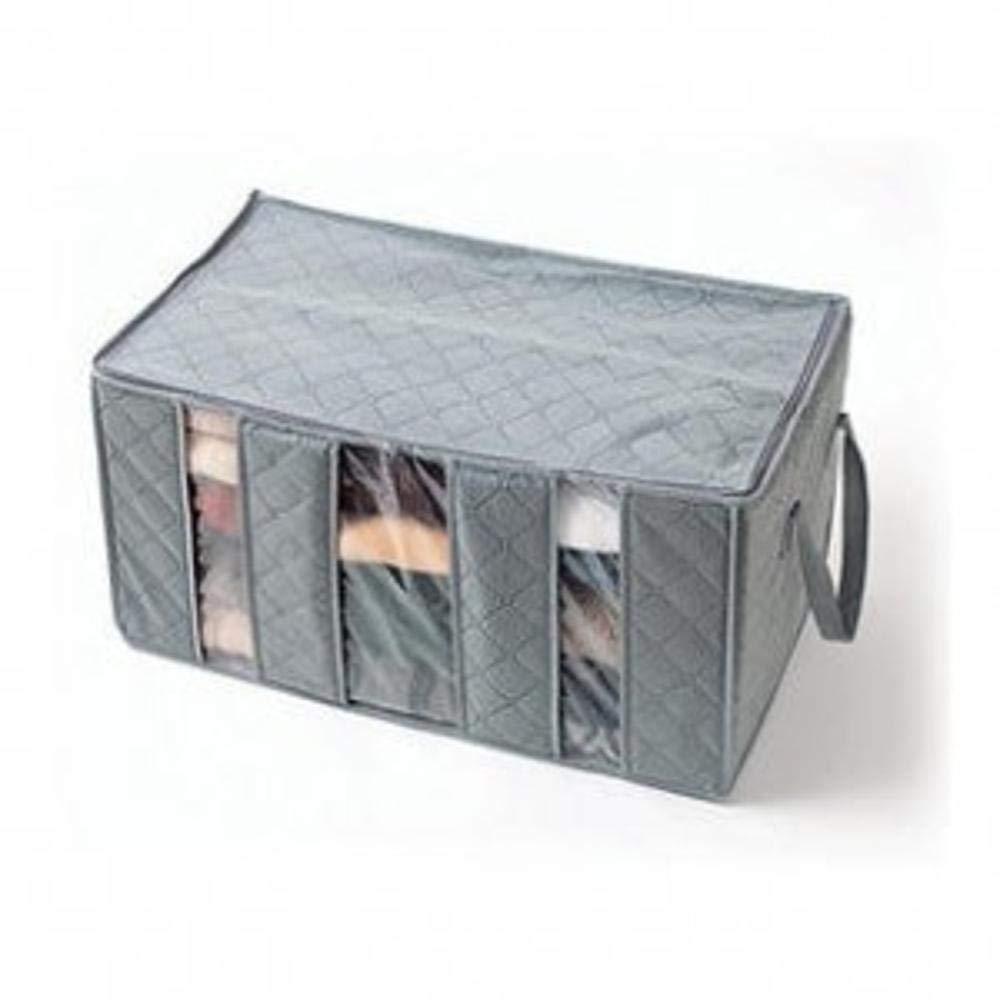 kaige Laundry Basket Bamboo Charcoal Clothing Finishing Bag windows storage box