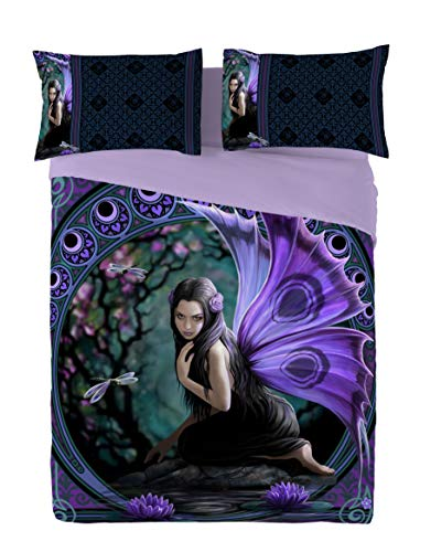 Purple Fairy Bedding Set for Teen Girls