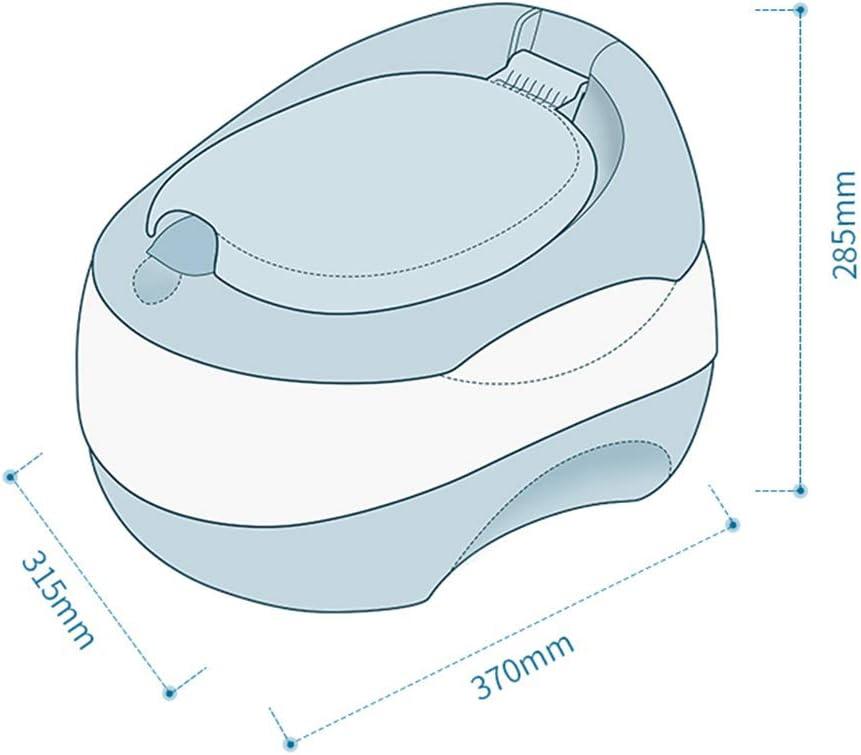 Design Ultra Stable Pot B/éb/é Gar/çon Dossier Haut Avec Couvercle Pot B/éb/é Toilette Pi/èces Amovibles Et Portables Formation De Toilette Pour Gar/çons Et Filles 32 x 34 x 31 cm