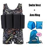 Lemandii One-Piece Children Buoyancy Swimsuit Swim Vest Detachable Float Swimwear, Perfect for Kids or Baby Learn to Swimming