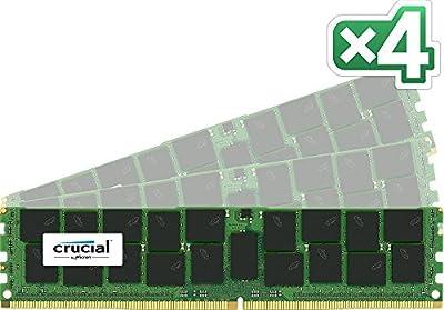 Crucial 64GB Kit (16GBx4) DDR4 2133 (PC4-2133) DR x4 288-Pin Server Memory CT4K16G4RFD4213 / CT4C16G4RFD4213