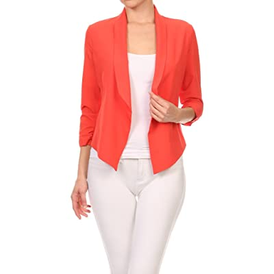 2ND DATE Women's Ruched Open Blazer - Various Styles