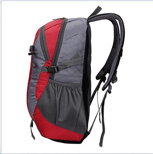 BUSL Sencillas de gran capacidad al aire libre del alpinismo de nylon impermeable de la conducción deportiva bolsa de viaje bolsa de hombro del ocio . blue Red