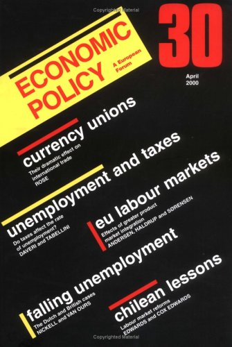 Economic Policy 30 (No. 30)