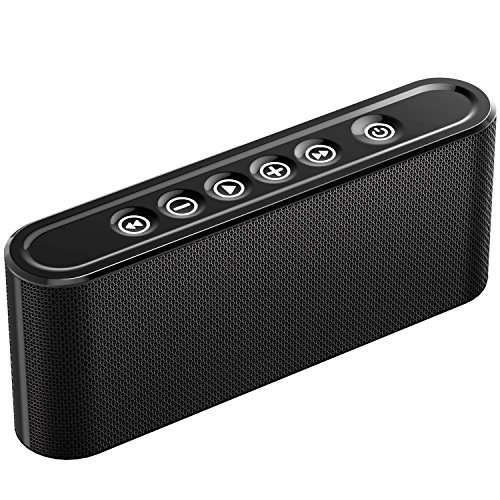 Evetebol Bluetooth Speakers, 6W Touch Speakers, Bluetooth V4.2 Wireless Speaker with Super Bass, Treble, Surround Sound, Noise Reduction Microphone – Support TF Card, USB Disk, 3.5mm AUX Input