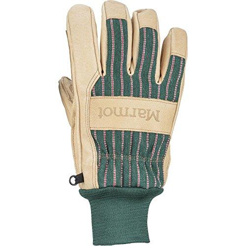 Marmot Lifty Glove - Men's Tan/Forest, - Marmot Mens Work Gloves
