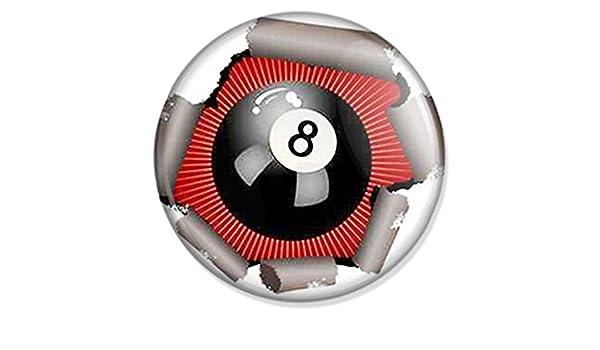 Botón de bola 8 de billar - Sport Badge, Pin Sport, Sport Pin, Sport Button, Sport NECA: Amazon.es: Deportes y aire libre