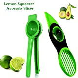 Lemon Squeezer and 3 in 1 Avocado Multi-function Slicer Kit-Semarty Reusable Easy Clean Lime Lemon Manual Squeezer Citrus Press Juicer Avocado Slicer Core Remover Special Knife