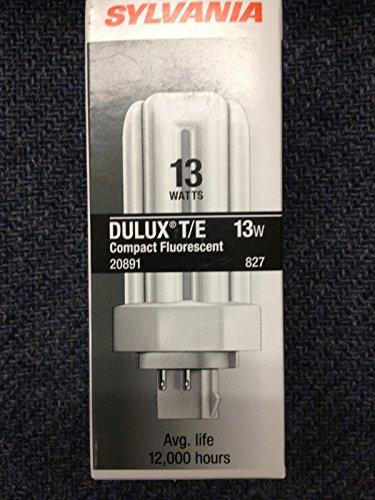 13w Tube Triple - 50 Sylvania 20891 CF13DT/E/827/Eco 13W Triple Tube 4PIN Base Cfl Light Bulbs