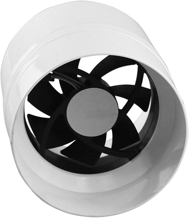 Conducto de Escape Tubo del Ventilador Tubería de bajo Ruido Extractor Ventiladores Ventilador de ventilación silencioso for el hogar Ventilador silencioso Redondo de 110 mm for Cocina