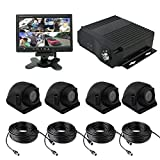 TrackSec 4 Channel AHD 720P H.264 Mobile DVR Recorder with G-sensor Car Black Box Kit – 4 Weatherproof Side View Cameras, 7 inch Car Monitor, Video Extension Cords and More Review