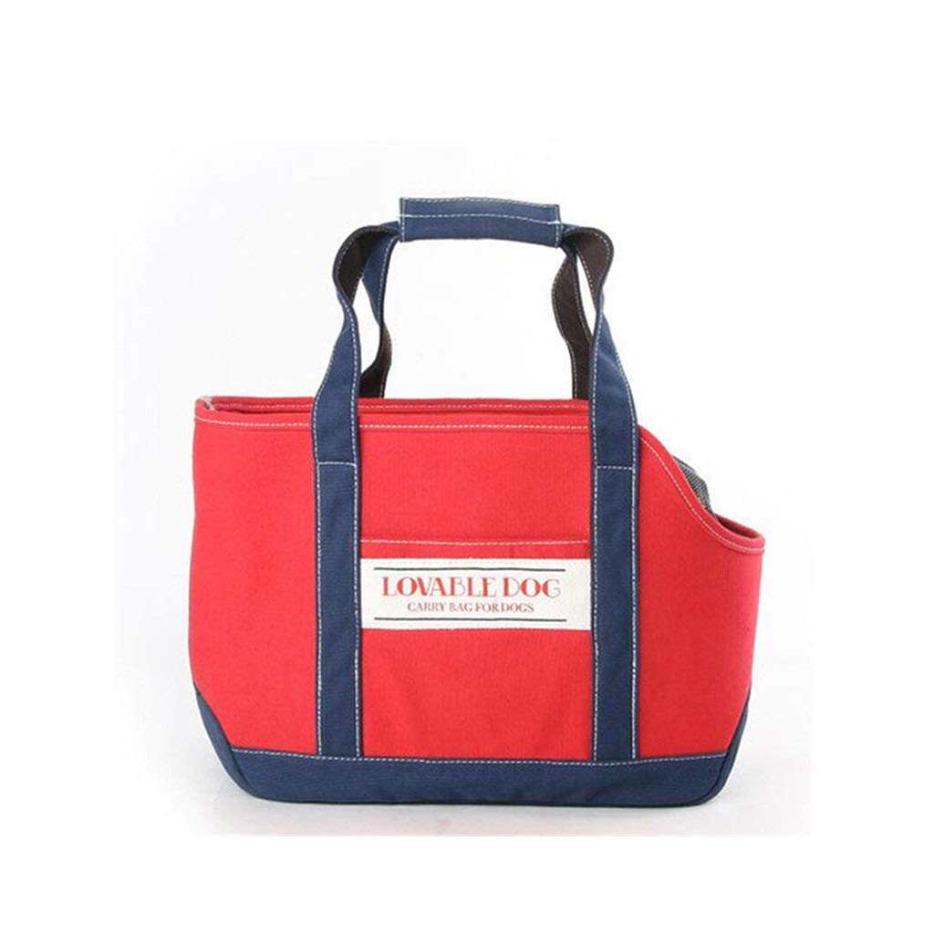 Red 36x17x27cm red 36x17x27cm MIAOLIDP Pet dog bag out carrying case carry bag travel bag puppy Teddy VIP small dog supplies Pet cat carrier (color   Red, Size   36x17x27cm)