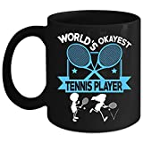 Best i-Custom World Holiday Evers - World's Okayest Tennis Player Coffee Mug, Cool Tennis Review