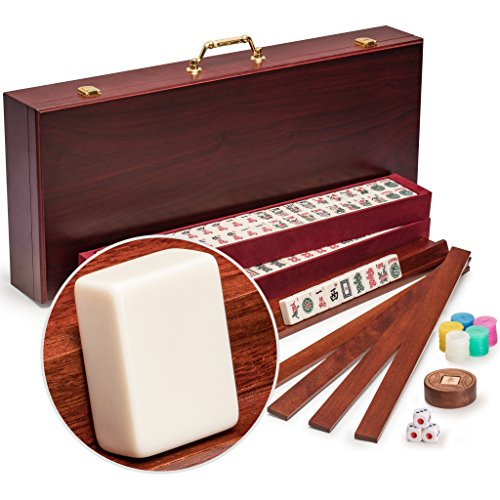 "American Mahjong (Mah Jongg, Mahjongg), 166 Tiles, All-in-One Racks with Pushers Set, The ""The Classic Royal II"" by Yellow Mountain Imports"