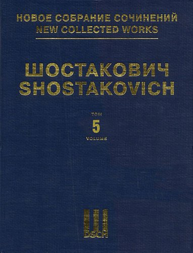 Symphony No5 Op47 Full Score Dsch New Collected Works Volume 5 Ncw 5 Hardcover – June 1, 2004