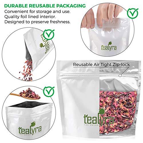 Tealyra - Luscious Hibiscus Rose - Fruity Herbal Loose Leaf Tea - Caffeine Free - Hot or Iced - 112g (4-ounce)