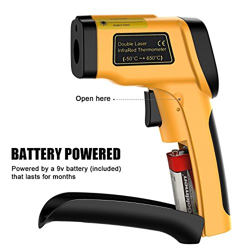LURICO Infrared Thermometer, Helect Non-contact Digital Laser Temperature Gun (-58°F~1202°F/-50°C~650°C) - Accurate Digital Surface IR Thermometer with LCD Display (Battery Included) by LURICO (Image #8)