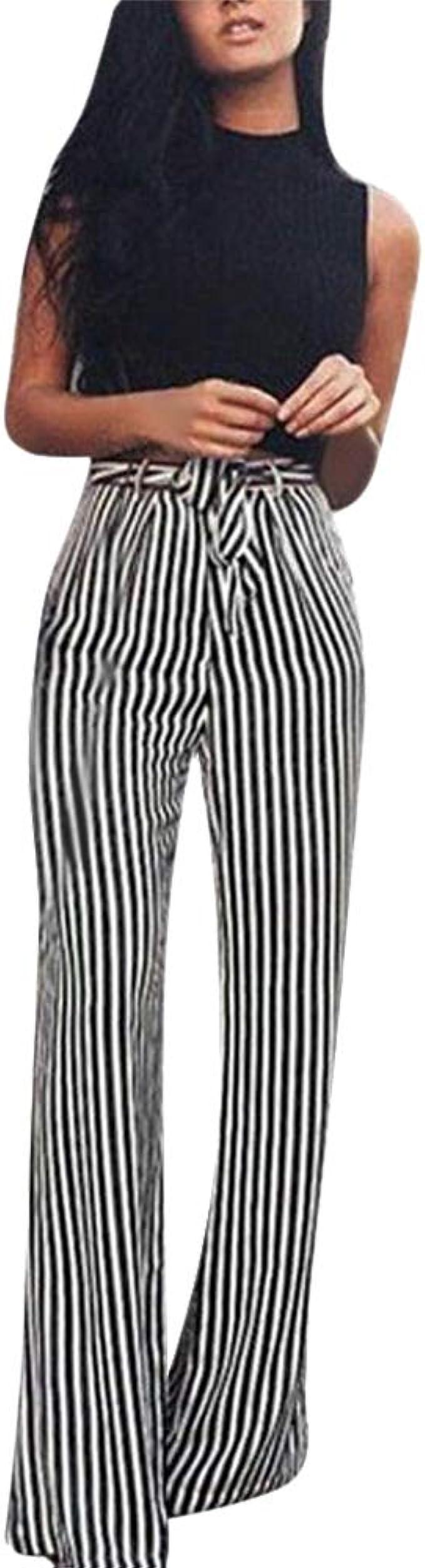 Amazon.com: Pantalones para mujer de estilo casual Palazzo ...